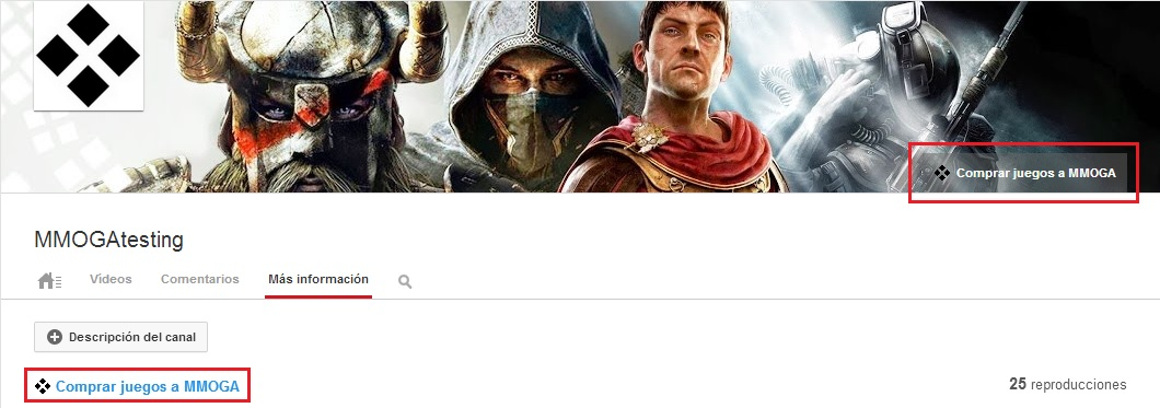 Link in channel art