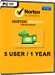 Norton Security (5 user / 1 year)