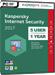 Kaspersky Internet Security 2017 (5 Usuarios / 1 Año)