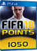 1050 FUT Points - FIFA 18 PS4 DE