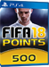 500 FUT Points - FIFA 18 PS4 DE