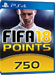 750 FUT Points - FIFA 18 PS4 DE