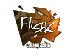 Pegatina | flusha (reflectante) | Colonia 2016