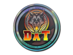 Pegatina | dAT team (holográfica) | Colonia 2014