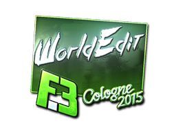 Pegatina | WorldEdit (reflectante) | Colonia 2015