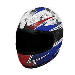 Red and Blue Racing Helmet