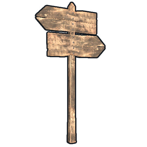 Double Sign Post