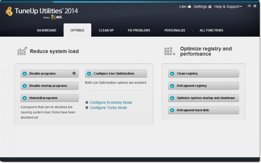 TuneUp Utilities 2014 (3 usuarios) Screenshot 2