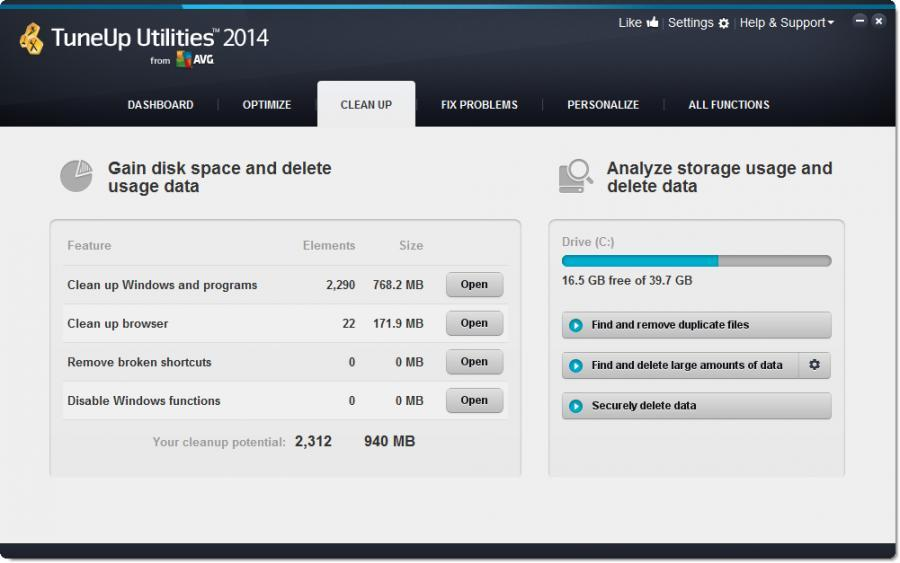 TuneUp Utilities 2014 (3 usuarios) Screenshot 3