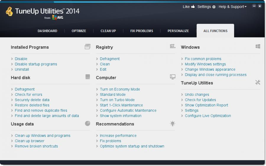 TuneUp Utilities 2014 (3 usuarios) Screenshot 4