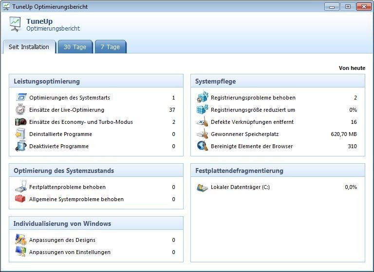 TuneUp Utilities 2014 (3 usuarios) Screenshot 8
