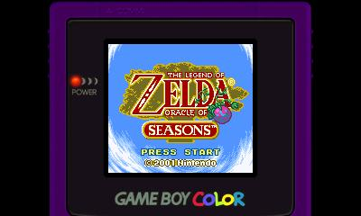 Legend of Zelda - Oracle of Seasons (GBC) - 3DS Screenshot 1