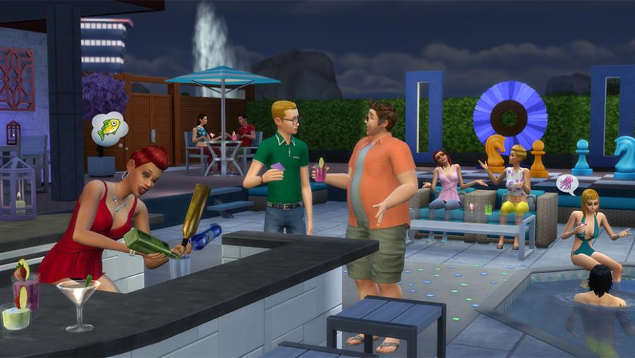Los Sims 4 - Día de Spa + Fiesta Glamurosa Pack de Accesorios + Patio de Ensueño Pack de Accesorios Bundle Screenshot 7