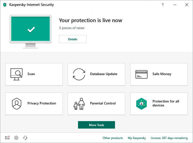 Kaspersky Internet Security Multi-Device 2019 (1 User / 1 Year) Screenshot 2