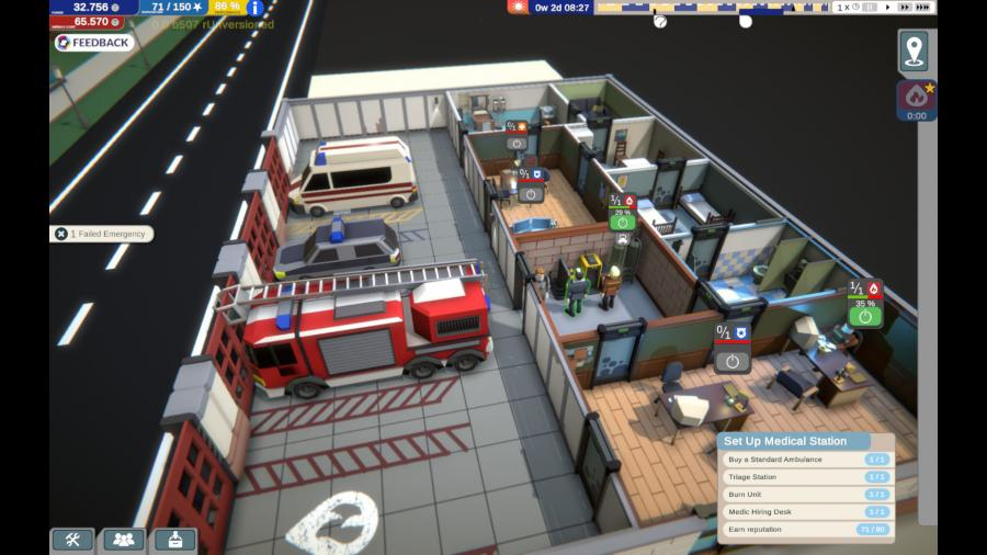 Rescue HQ - The Tycoon Screenshot 4